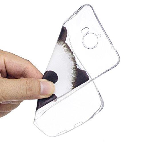 Funda para Huawei Y5 2017 / Y6 2017 (No disponible para Huawei Y6 Pro 2017) , IJIA Transparente Negro Flor De Mandala TPU Silicona Suave Cover Tapa Caso Parachoques Carcasa Cubierta para Huawei Y5 201 TX22