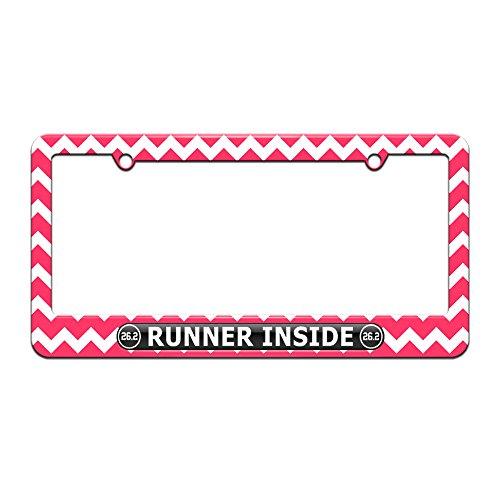 license plate frame for runners - 3
