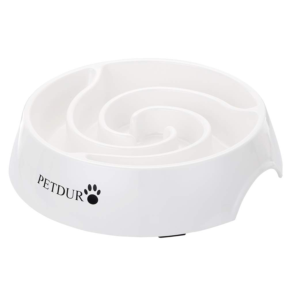 PETDURO Slow Feed Dog Bowl Large 9.75 inch, Cat Bowls Slow Feeder with Food Capacity of 14 oz, Durable Pet Slow Eating Bowl with Non-Slip Base Easy Cleaning Avoid Indigestion or Obesity