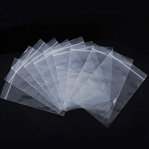 Lvcky - Bolsas de plástico con Cierre Autoadhesivo, Transparente, 2 x 2,8 Pulgadas, 3,5 x 5 Pulgadas, 4 x 6 Pulgadas (150...
