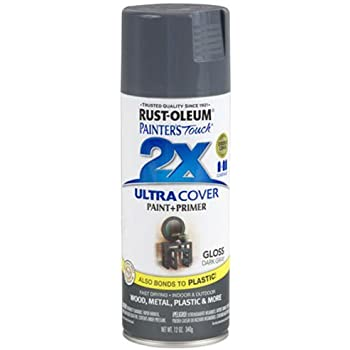 Rust-Oleum 249115 Painter's Touch Multi Purpose Spray Paint, 12-Ounce, Dark Gray