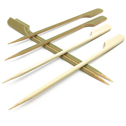 3.5'' Bamboo wood Paddle Picks Skewers for Cocktail,Appetizers,Fruit,Sandwich,Barbeque Snacks.More Size Choices 4.7''/ 7'' / 10'' (Pack of 100)