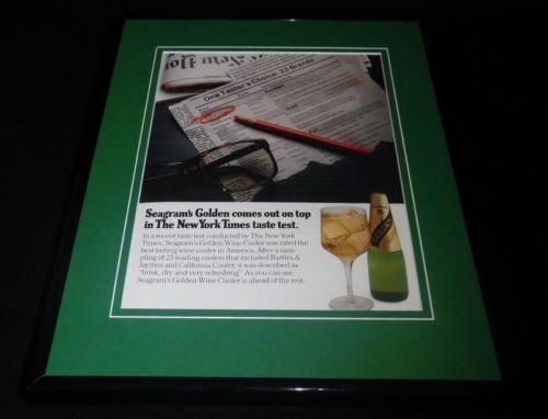 1985-seagrams-golden-wine-cooler-11x14-framed-original-vintage-advertisement