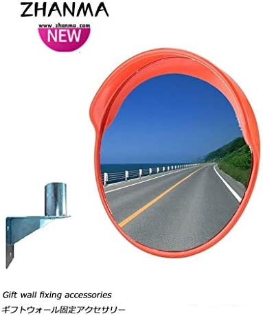 カーブミラー 屋外道路交通凸PCミラー安全ミラーガレージ駐車場撤廃ブラインドスポットのための45センチメートル60センチメートル80センチメートル100センチメートル、取付金具を送ります RGJ4-27 (Size : 450mm)