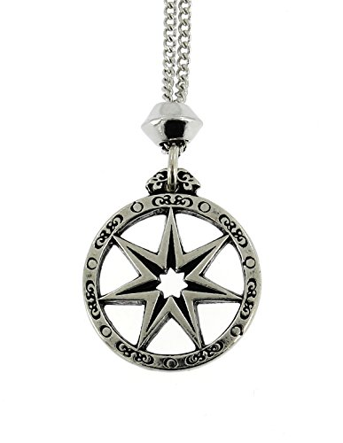 (Celtic Septagram Fairy Star Pewter Pendant ~ 18+4 inch extender Chain)