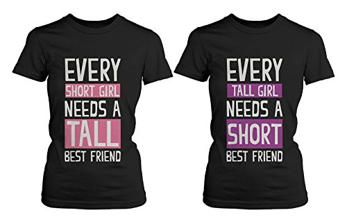 Best Friend Shirts - Short and Tall Best Friends BFF Matching T-shirts