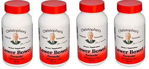Dr. Christopher's: Lower Bowel Formula, 100 caps (4 pack) by Dr. Christopher's Formulas