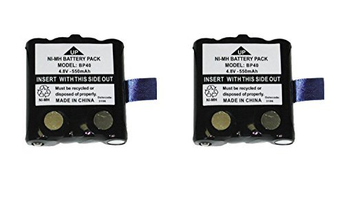 NEW 2 Pack Uniden BP40 Rechargeable Battery for GMR / FRS Radios / Walkie Talkies