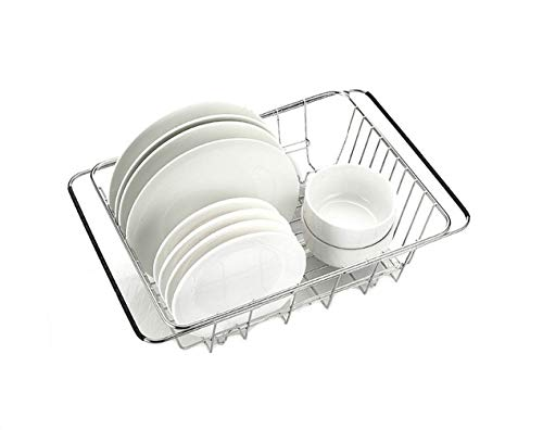 ABTP Adjustable Stainless Steel Dish Drying Rack No Slipping