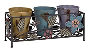 Deco 79 Metal Planter Stand, 20-Inch and 10-Inch
