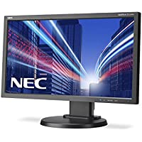 NEC E233WM Black 23 INCH LCD monitor with LED backlight TN panel 1920x1080 VGA DVI-D DisplayPort 110mm height adjustable