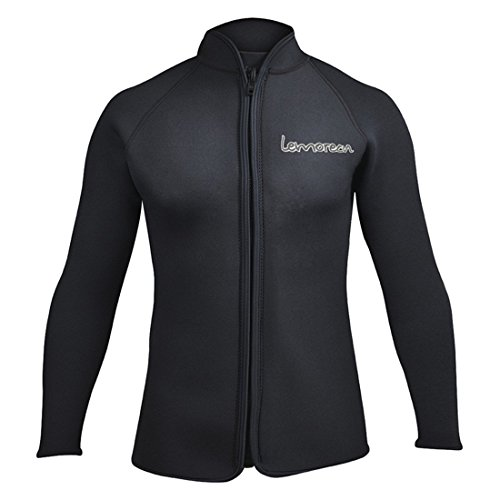 Lemorecn Adult's 3mm Wetsuits Jacket Long Sleeve Neoprene Wetsuits Top US Size (Black, - Wetsuit Chart Sizes