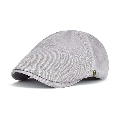 VOBOOM Cotton Flat Cap Cabbie Hat Gatsby IVY Cap Irish Hunting Hat newsboy (Light (Cotton Ivy Hat)
