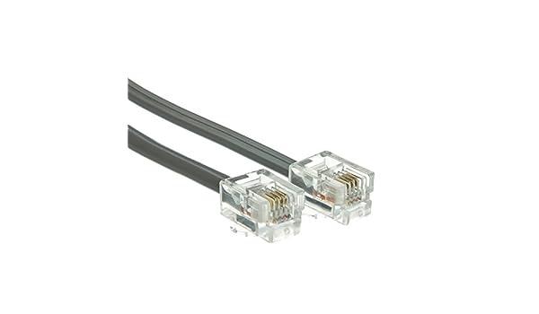 6P // 6C Silver Satin Data 14 Foot RJ12 CLASSYTEK Telephone Cord Straight