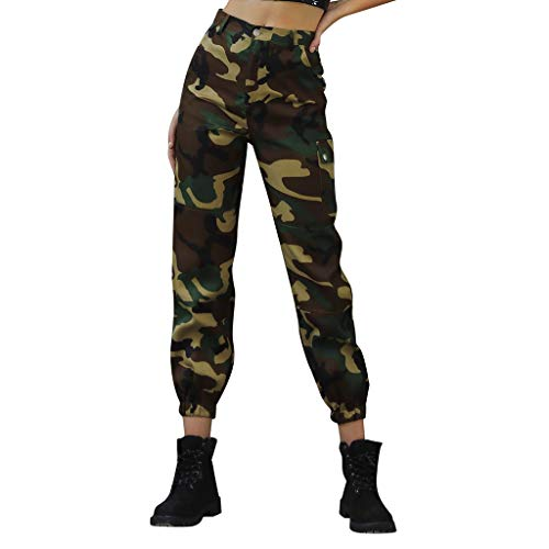 FORUU Women's Harem Pants with Pocket,2019 Autumn Winter Trendy High Waist Casual Simple Comfy Camo Sport Hip Pop Loose Fit Pants Ladies Trousers Yoga Pants