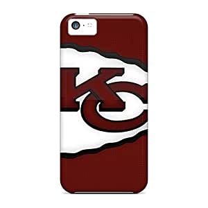 Iphone 5c Case Cover - Slim Fit Tpu Protector Shock Absorbent Case (kansas City Chiefs Brown)
