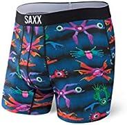 Saxx Underwear Men's Boxer Briefs – Volt Men's Underwear – Boxer Briefs with Built-in Ballpark Pouch Sup