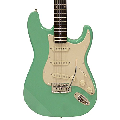 Sawtooth ST-ES60-SGRW Classic ES 60 Alder Body Electric Guitar - Surf Green with Aged White Pickguard