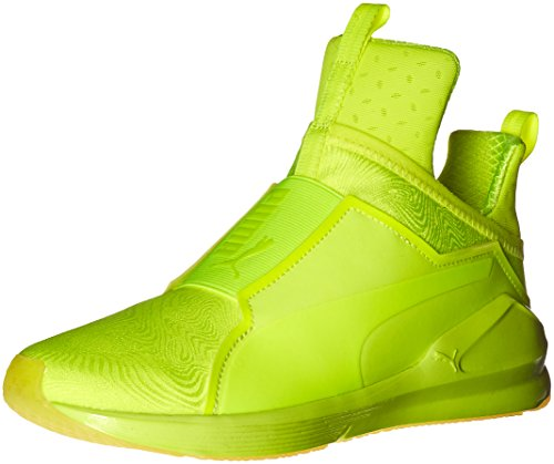 PUMA Women's Fierce Bright Cross-Trainer Shoe, Safety Yellow/Safety - Puma Yellow