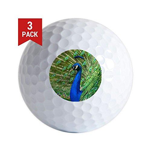 Hummingbird Golf (Golf Balls (Set of 3) Peacock with Beautiful Plumage)