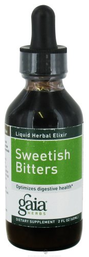 Bitter Herbs - Gaia Herbs Sweetish Bitters Elixir, Liquid Supplement, 2 Ounce - Supports Digestion, Eases Bloating
