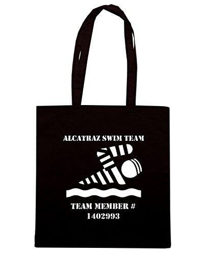 T-Shirtshock - Bolsa para la compra FUN0534 alcatraz swim team organic mens tshirt dark Negro