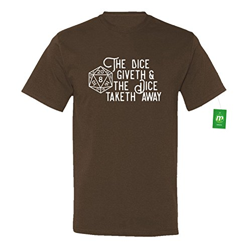 Minty Tees The Dice Giveth And The Dice Taketh Away XXXX-Large Chocolate Men's Shirt (Chocolate D And D Dice compare prices)