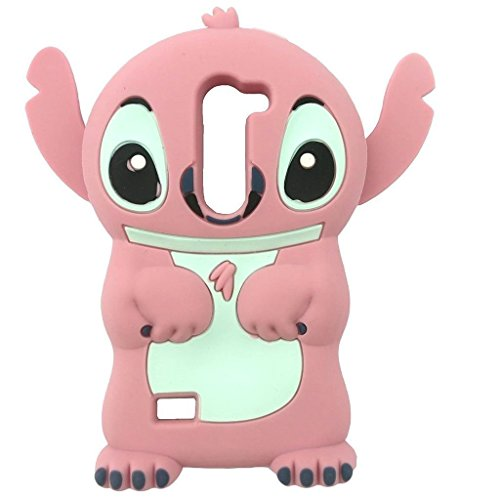 LG G Stylo 2 Silicone Case,Emily Fashion Super Cute 3D Cartoon Character Outer Space Pink Alien Dog Protective Silicone Back Case Cover for LG G Stylo 2 (Cartoons Characters)