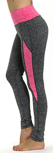 Prolific Health Yoga Pants Fitness Flex Power Leggings - All Colors - S - L (Large, Gray/Fuschia Type2)