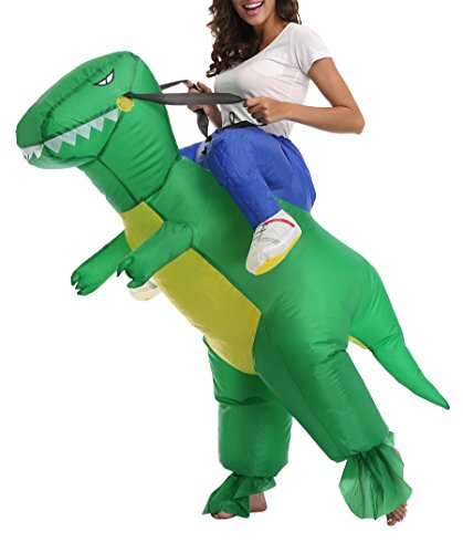 Kids Horse Inflatable Rider Costume Carry Me Trex Dinosaur Dress Up Halloween Cosplay Suit -