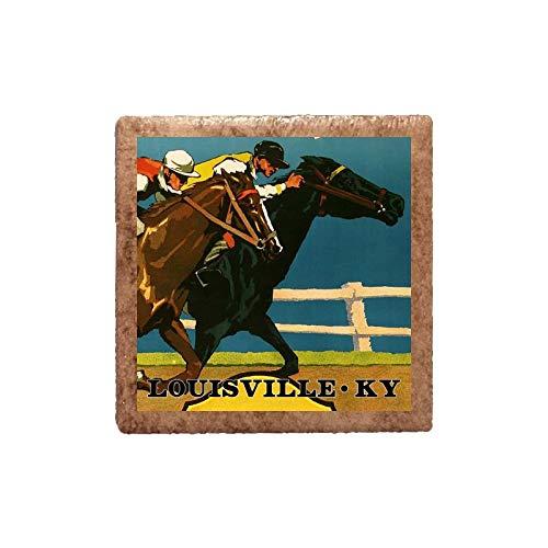 Ceramic Magnet - Derby Old Time Race - Louisville Kentucky