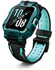 imoo Watch Phone Z6 (Green) - Smart Watch Phone for Kids (GPS Tracking, Video Call, Chat, 4G, Water Resistant)