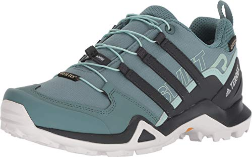 adidas outdoor Terrex Swift R2 Mid GTX Hiking Shoe - Women's Raw Green/Carbon/Ash Green 5