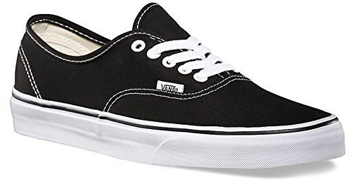 Vans Classic Authentic Black Canvas Skate Shoes Black 10 D(M) US