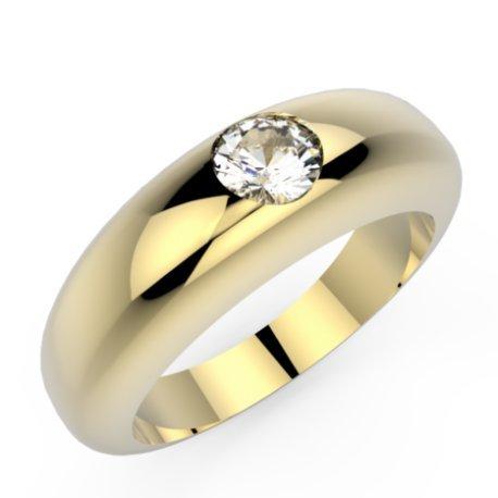 CLARISS Bagues Or Jaune 18 carats Saphir Blanc 0,6 Rond