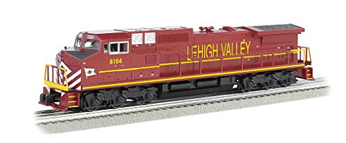 Williams by Bachmann GE Dash 9 Diesel - Lehigh Valley #8104 Train (O Scale) - Dash 9 Diesel Locomotive