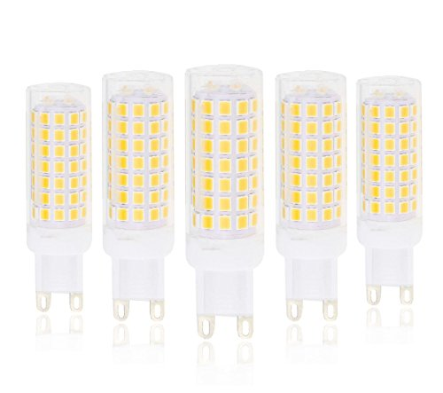Cooper Crystal Table Lamp - Lamsky G9 LED Bulb,5.5W Warm white 2700K,AC110-130V,88X2835SMD,Not Dimmable,55W halogen replacement(5-Pack)
