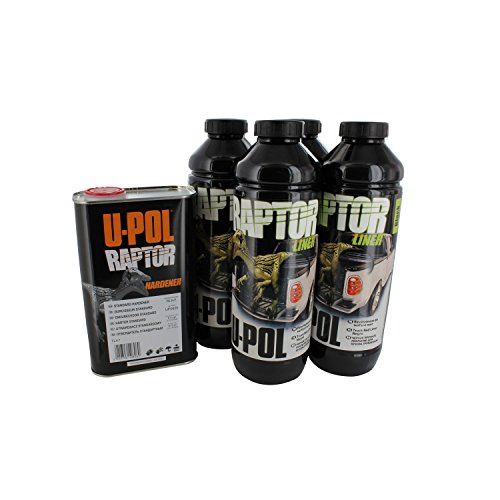 Price comparison product image U-Pol Products 0820 RAPTOR Black Truck Bed Liner Kit - 4 Liter