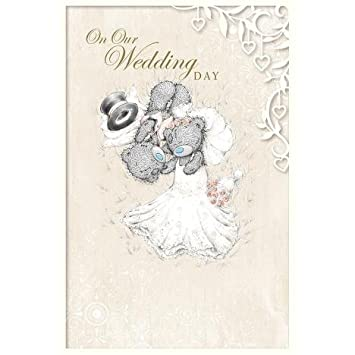 me to you on our wedding day card for partner tatty teddy bear