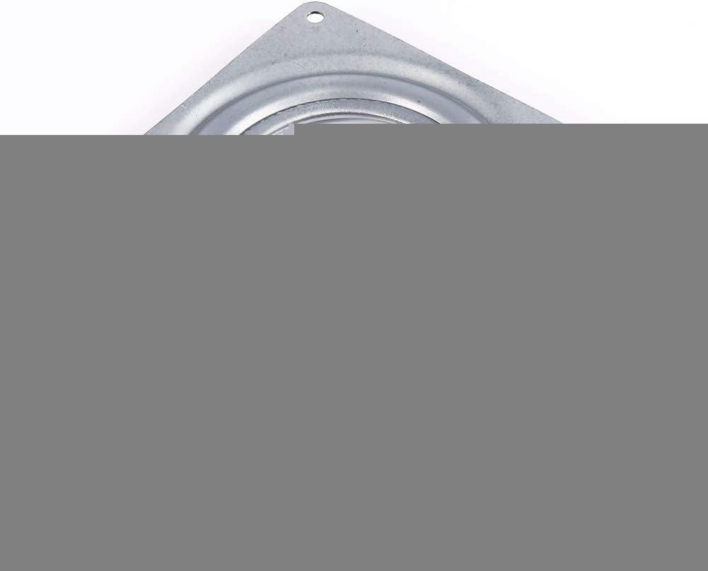 Placa giratoria de 4 pulgadas cuadrada giratoria de metal Lazy Susan Turntable Rodamiento para gabinetes de cocina macetas mesas