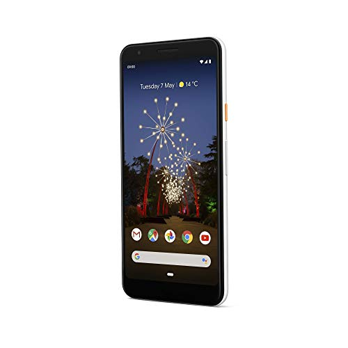 """Google Pixel 3A (2019) G020F 64GB (5.6"""" inch, GSM, 4G/LTE, CDMA) Factory Unlocked Smartphone - International Version (Clearly White)"""