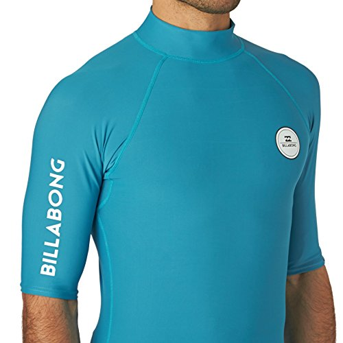 2016 Billabong All Day Short Sleeve Rash Vest in Blue W4MY01