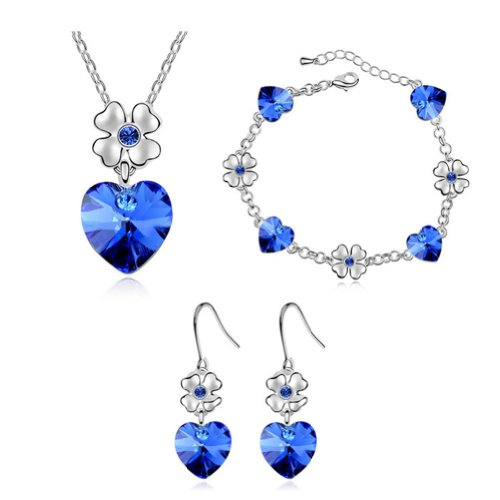 Mondaynoon-Austrian-Crystal-Jewelry-Sets-Dancing-Heart