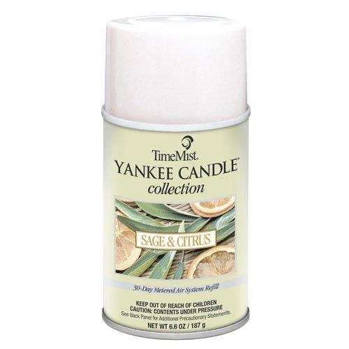 (TMS812250TMCA - Timemist Yankee Candle Air Freshener Refill, Sage amp;amp; Citrus, Aerosol, 6.6)