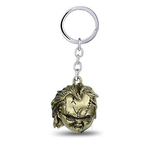 Algol - 10 pcs ping Classic Flim Child's Play Bride of Chucky 3D Coslay Keychains Pendant Metal Keyring for Fans Children -