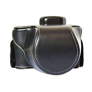 Andoer® Crazy-horse Leather Camera Case Bag with Shoulder Strap for Olympus OM-D EM10 E-M10 with 14-42mm Lens Only