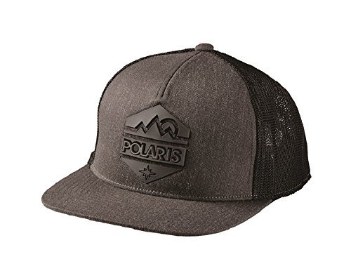 Polaris Mens Gray Hex Cap (Polaris Baseball Hat)