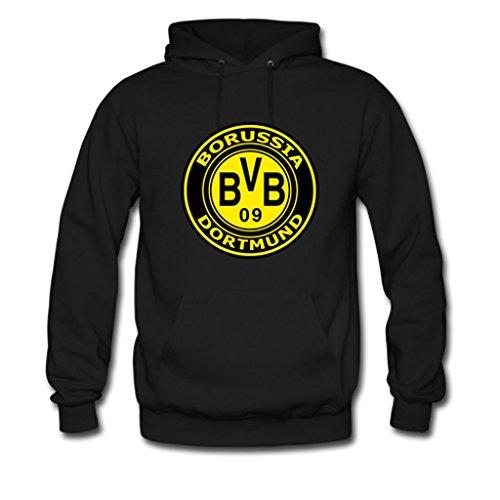 AHHACHI Mens BV Borussia Dortmund 09 Gildan Hoody Jacket Large Black