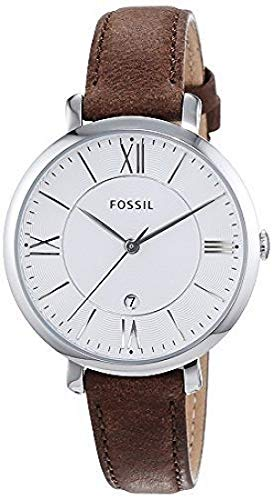 044aeaa80365 Image Unavailable. Image not available for. Colour  FOSSIL Jacqueline Brown Leather  Watch – Analogue Women s ...