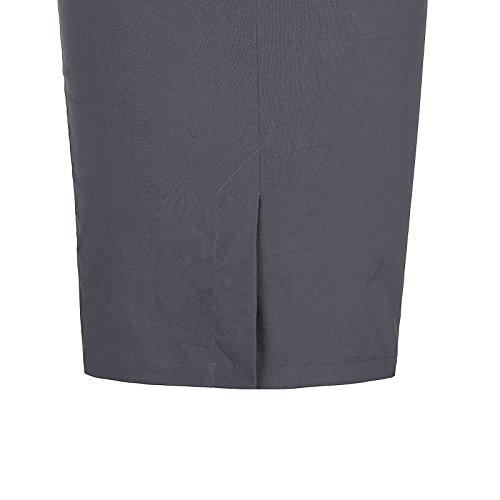 FR268 Haute Cuir en Femme Professionnelle Taille Jupe Kate Gris Kasin 601 Cl454 Coton Finc Crayon vBqxwAT1